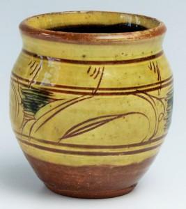 Cardew cizhou style jar 4 x 4 inches approx